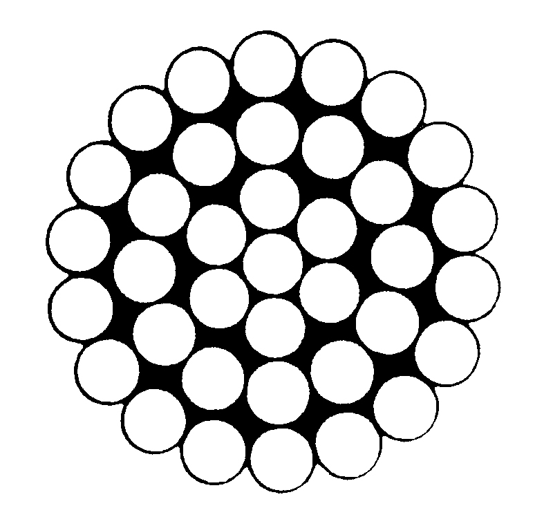 Çelik Halat 1x37 =1 (1 +x 6 +x 12 +x 18)