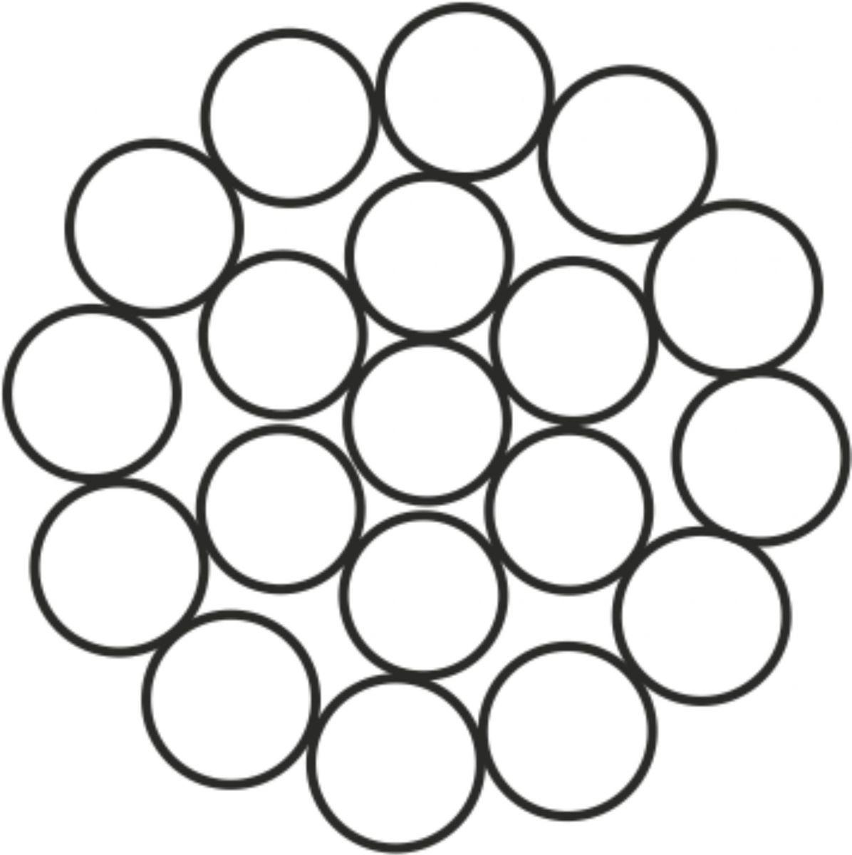 Çelik Halat 1x19 =1 (1 + 6 x 12)