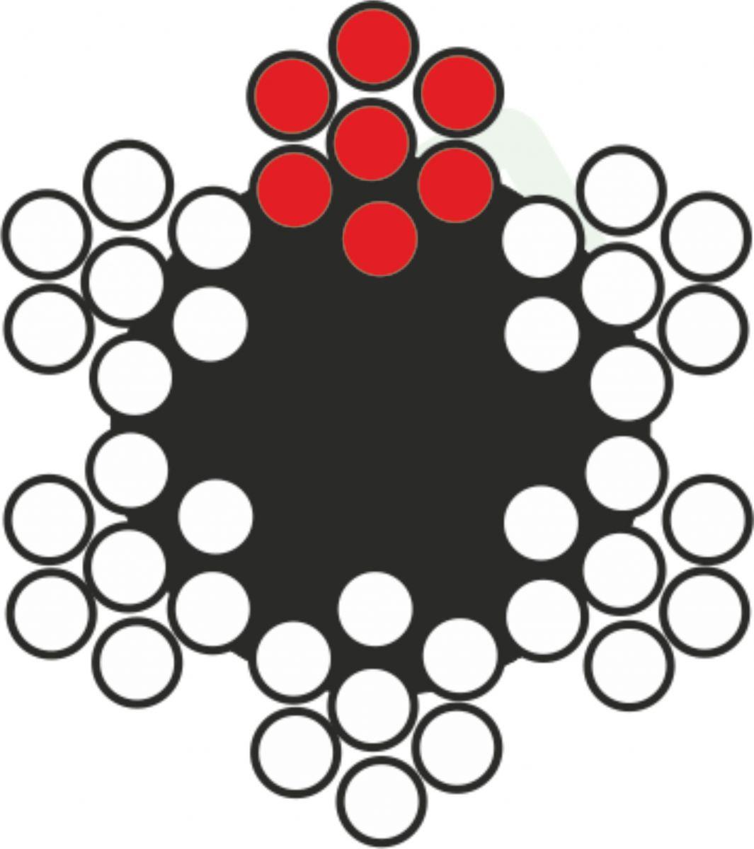 Çelik Halat 6x7 =6 (1+6) Lif Özlü